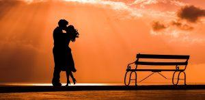 Силуэт романтической пары